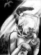 """Fallen"" Alf Sukatmo. Pencil on paper. 2014."