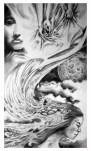 """Orgasmic Lullaby"" Pencil on paper ©Alf Sukatmo. 2016"