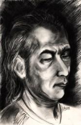 """20 Faces - 1"" Charcoal on paper ©Alf Sukatmo 2016"