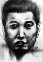 """20 Faces - 16"" Charcoal on paper ©Alf Sukatmo 2016"
