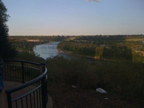 Looking upstream (?) on the North Saskatchewan River (at least that's how Google identifies it; don't blame me if I got it wrong)