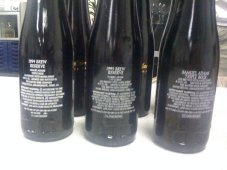 The back labels of the three Triple Bocks, released in 1994, 1995, and 1997 (the latter isn't marked as such)