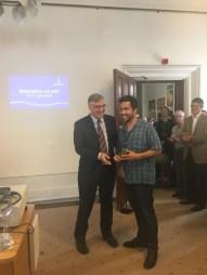 Congratulation to Claudio by SU Vice-chancellor