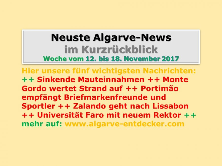 Algarve-News: 12. bis 18. November 2017
