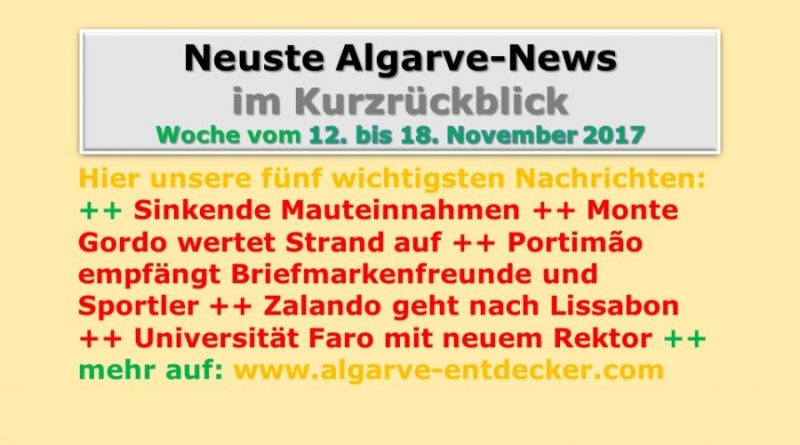 Algarve-News der KE 46 vom 12. bis 18. November 2017