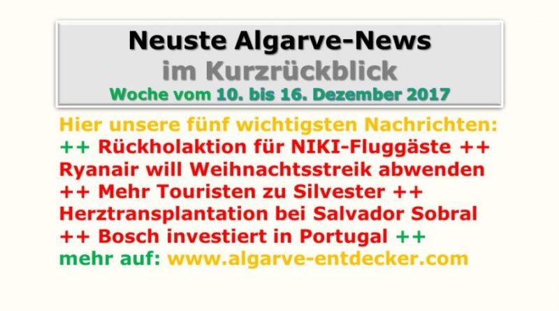 Algarve-News: 10. bis 16. Dezember 2017