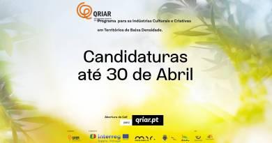 QRIAR Extensão de prazo de candidatura até ao dia 15 de Maio de 2021
