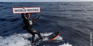 Kite Surf World Record Holder