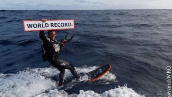 Kite Surf World Record Holder