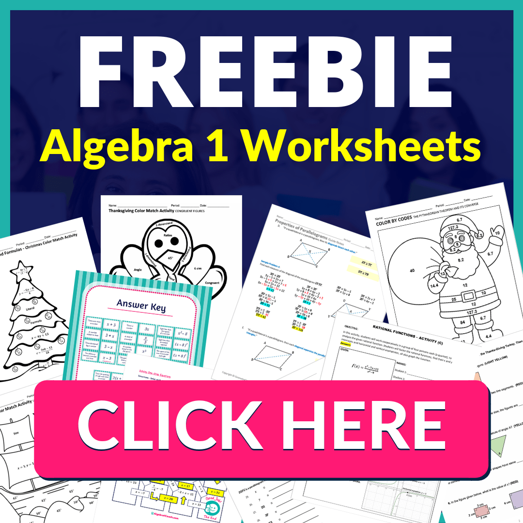 Algebra 1 Curriculum Map ⋆ Algebra 1 Coach