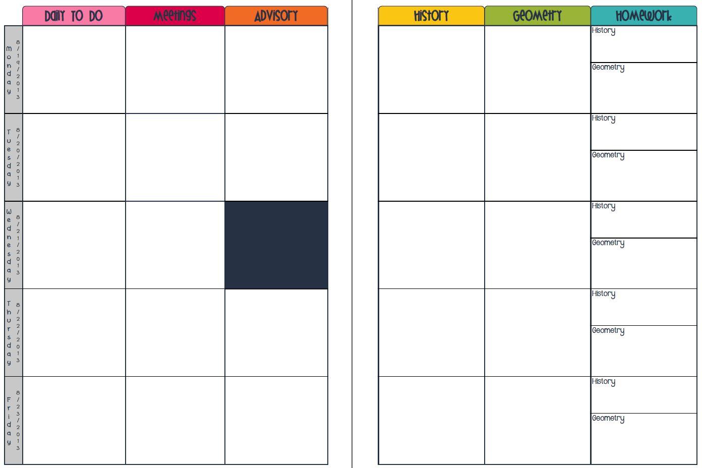 Plan Book Template. teacher plan book template free le classeur ...