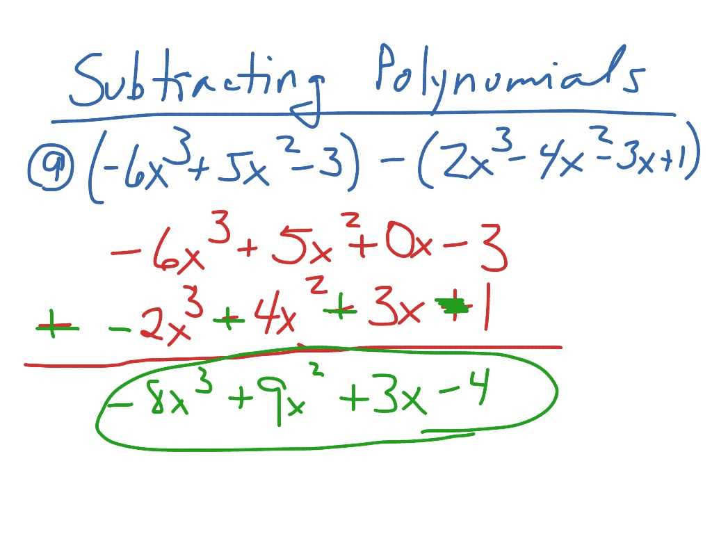 10 1 Adding And Subtracting Polynomials
