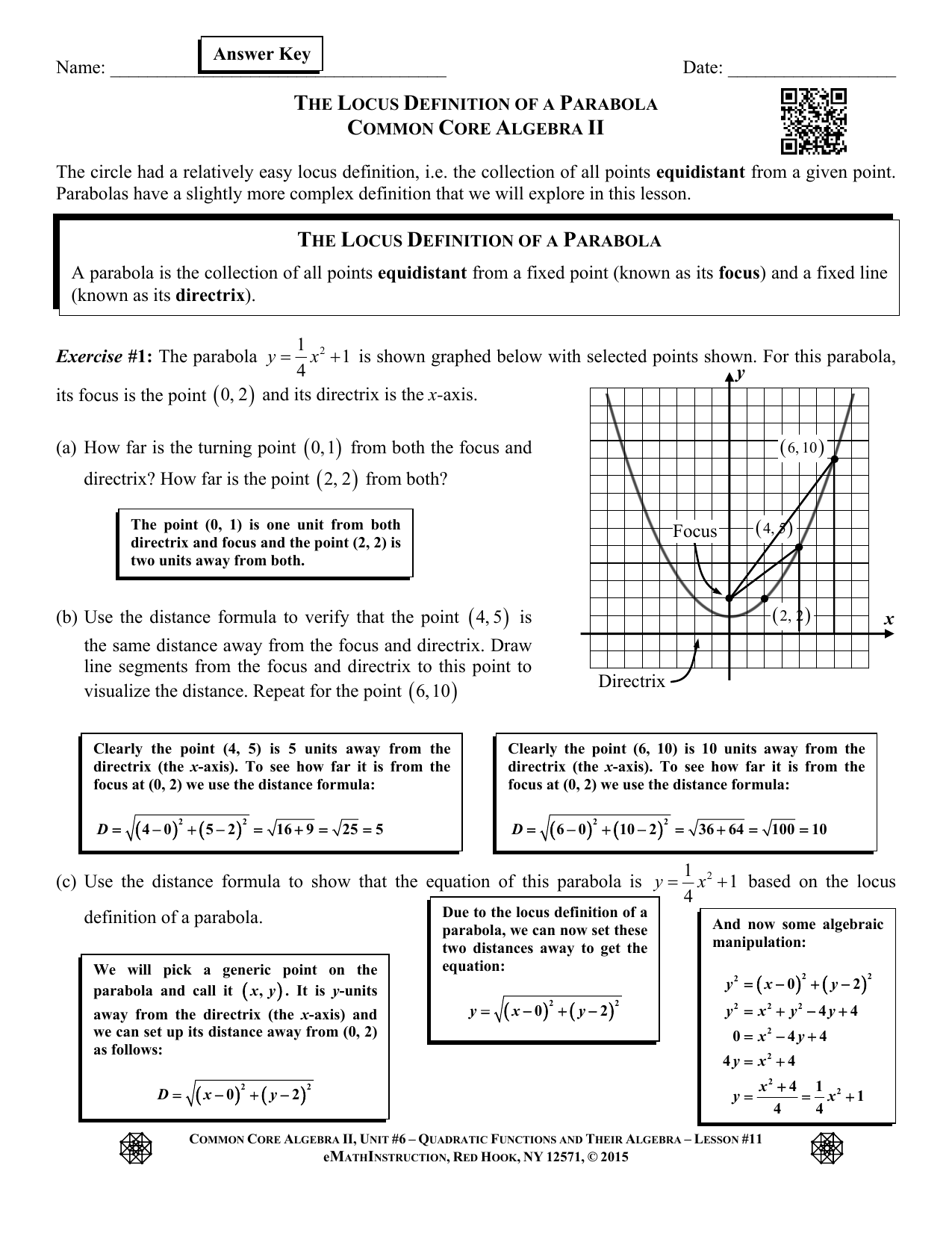 Algebra 1 Common Core Review Worksheets