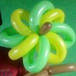 バルーンアート花の作り方!8枚の花びらの花(風車タイプ)