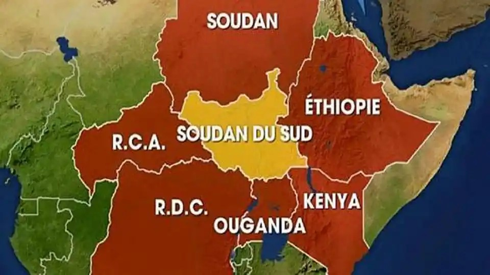 carte soudan Ethiopie