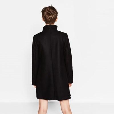 manteau enveloppant zara noir dos