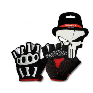 new-skull-joint-short-finger-gloves-motorcycle