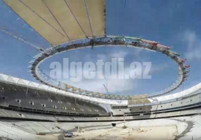 Wanda Metropolitano football Stadium cover timelapse 1