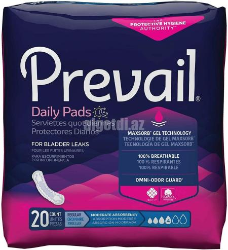 Prevail-Daily-Regular-Pads-Moderate-Absorbency-20-Per-Pk-Total-180-Lot-of-9-Pks1