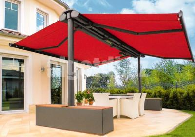 Butterfly Retractable Awning Two Sided Free Standing Coffee Shop Canopy 12