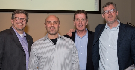 Al Getler, Bay Colony Wine Cellar's Joe Quartarone, Michael Hyatt, Hubspot CEO Brian Halligan