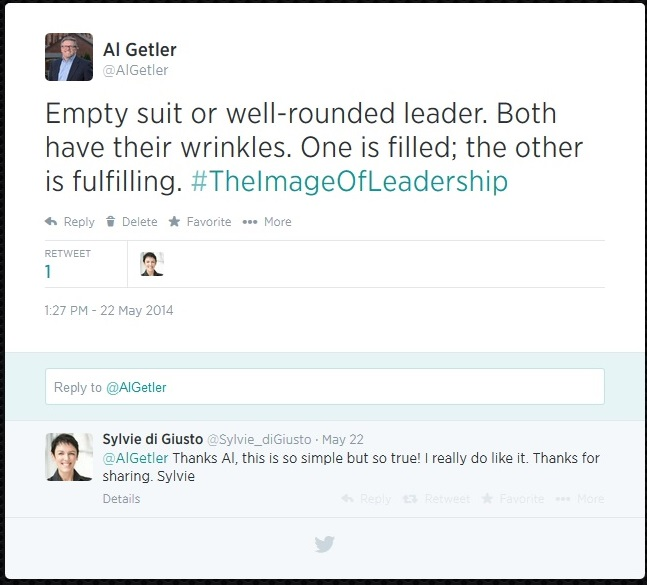 The Image of Leadership Empty Suit Tweet