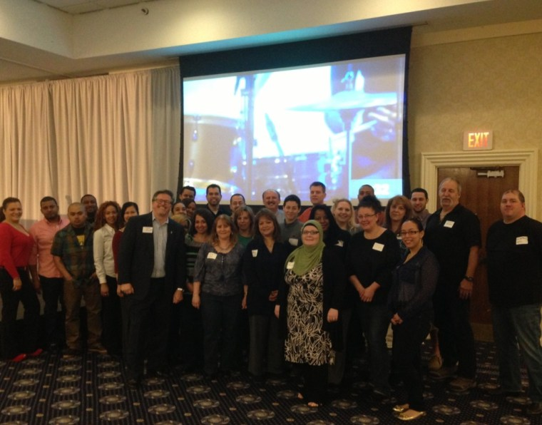 Employees of Gemline of Lawrence, MA at the 2014 Leadercast North of Boston