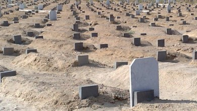 Photo of نقل رفات موتى مقبرة لتوسعة طريق بجرش