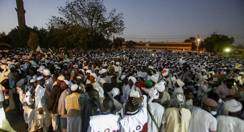 جانب من الاحتجاجات في السودان
