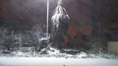 مشهد من الثلوج في رأس منيف قبل نحو أسبوعين- (أرشيفية)
