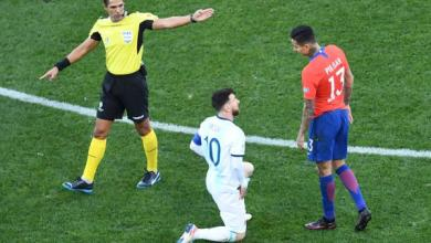 """Photo of طرد ميسي يُعكّر على الأرجنتين """"ثأرها"""" من تشيلي"""