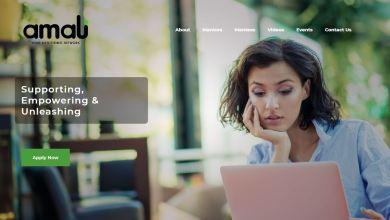 الصفحة الرئيسية لموقع المشروع على الانترنت