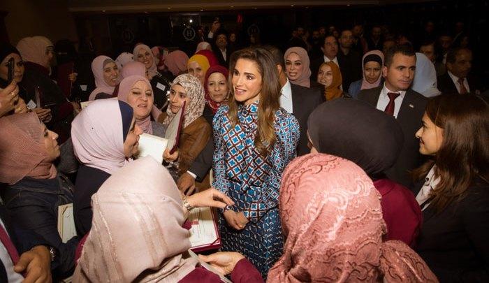 جلالة الملكة رانيا العبدالله في حفل الجوائز
