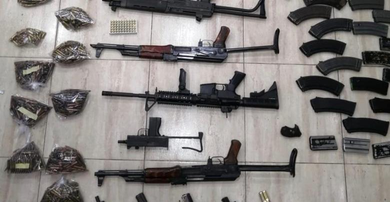 الأسلحة التي تم ضبطها اليوم في 28/1/2020