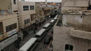 Photo of حافلات عمومية تغلق شوارع رئيسية بمدينة الكرك