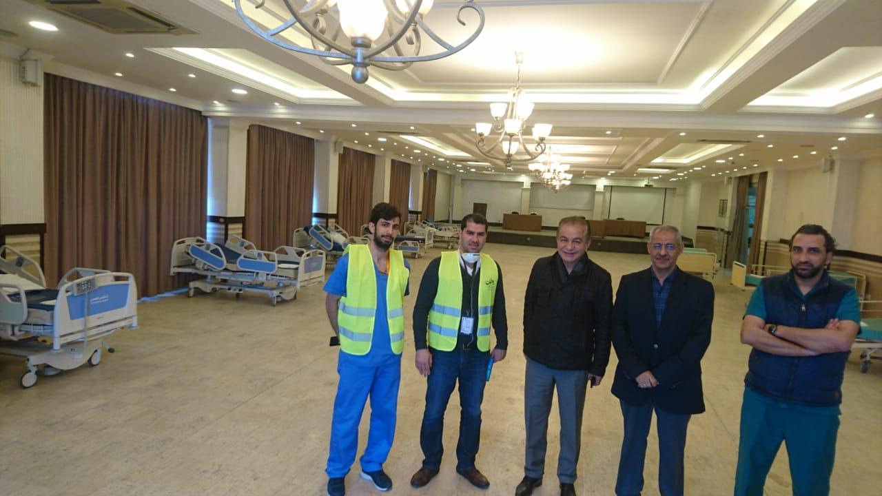 من افتتاح مستشفى ميداني ضمن المبادرة في مجمع النقابات المهنية - الغد