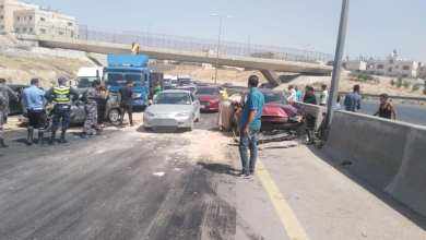 Photo of وفاتان بحادث تصادم نهاية شارع الـ100 باتجاه الزرقاء
