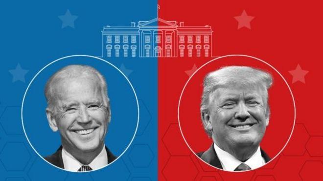 الرئيس الأمريكي دونالد ترامب ومنافسه جو بايدن