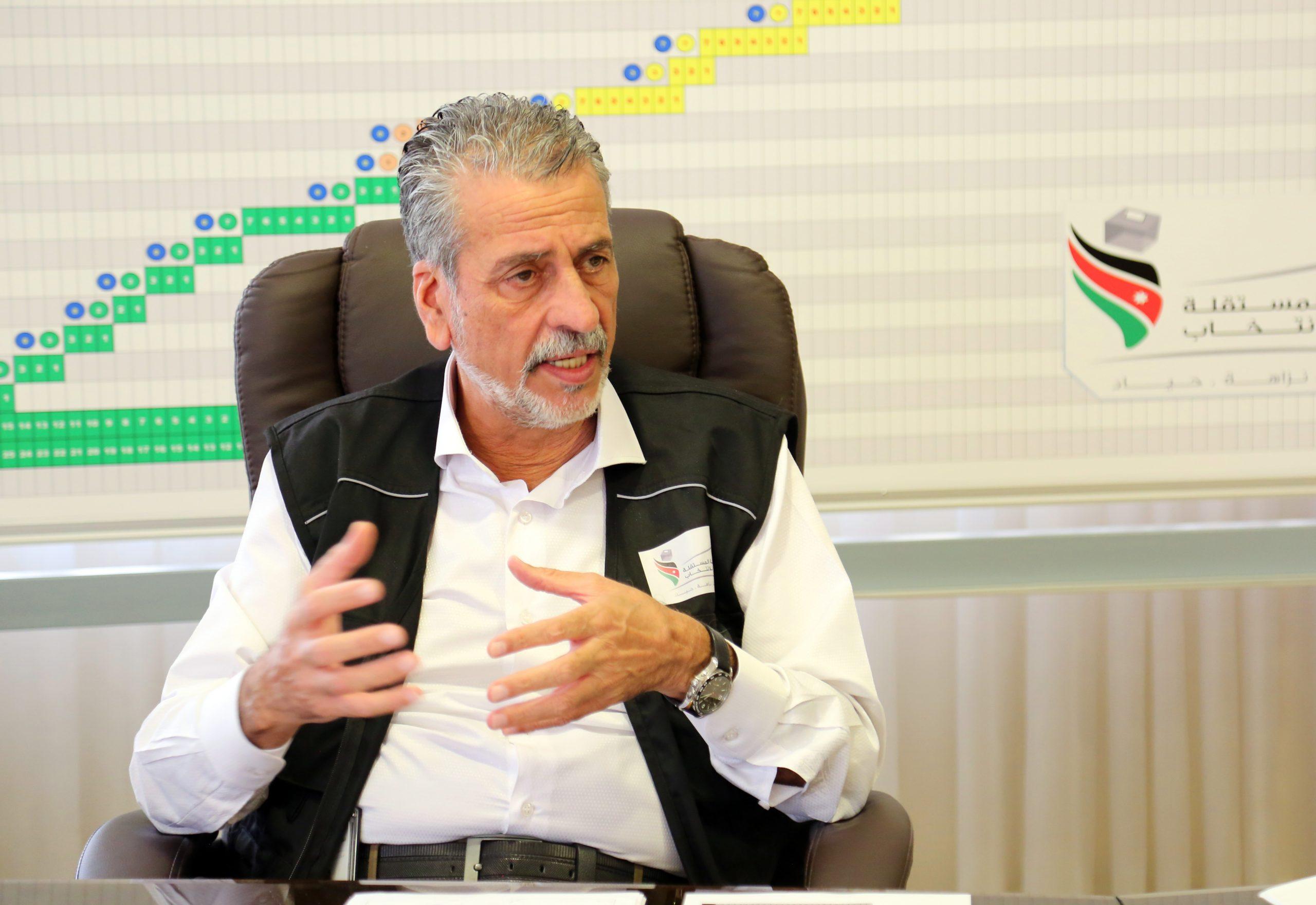 رئيس مجلس مفوضي الهيئة المستقلة للانتخاب، خالد الكلالدة -(تصوير: أسامه الرفاعي)