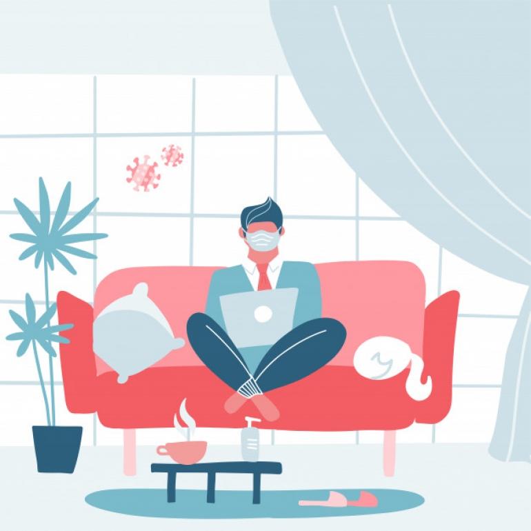 العزلة في المنزل بسبب كورونا