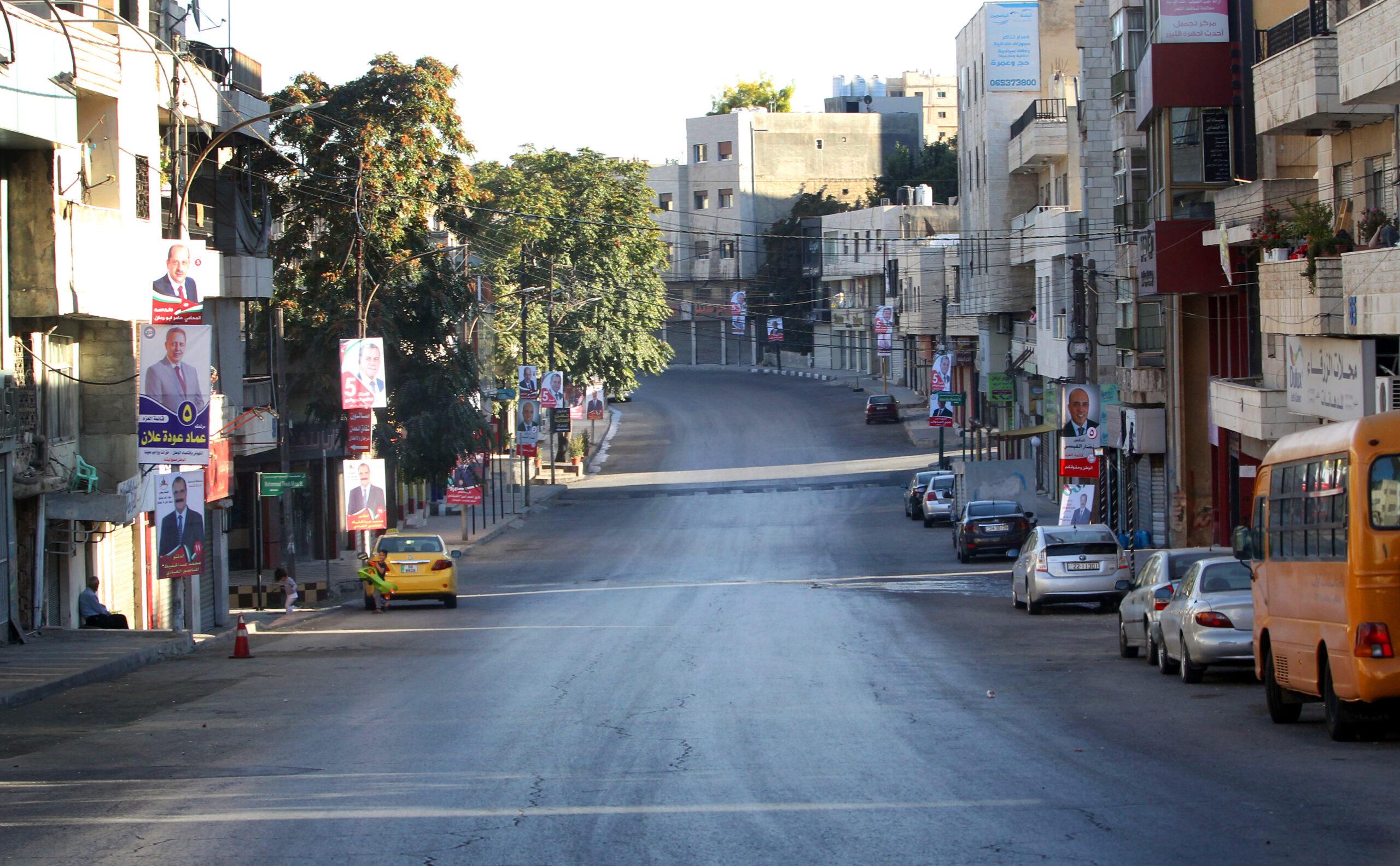 أحد شوارع عمان خلال الحظر - (تصوير: ساهر قدارة)