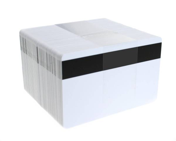 Dyestar Blank White Plastic Cards With Hi-Co Magnetic Stripe (Pack of 100)