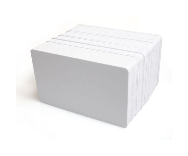 Dyestar Blank White Plastic ID Cards (PVC 760 Microns) - Pack of 100