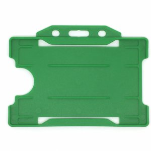 Single-Sided Open Faced ID Card Holder - Landscape (Green)