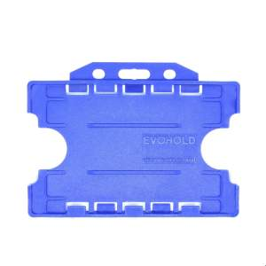 Double-Sided Open Faced ID Card Holder – Landscape (Royal Blue, Pack Of 100)