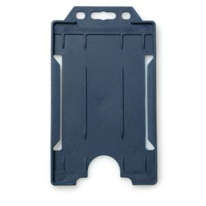 Single-Sided Open Faced ID Card Holder - Portrait (Dark Blue)