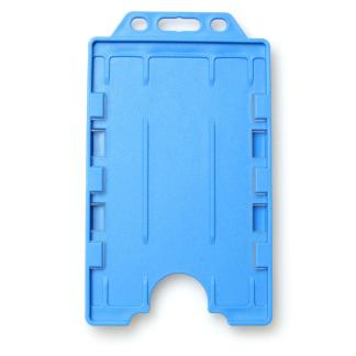 Double-Sided Open Faced ID Card Holder - Portrait (Light Blue)