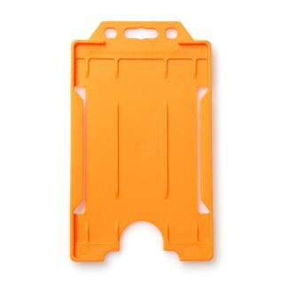 Single-Sided Open Faced ID Card Holder - Portrait (Orange)