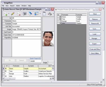 ImageBase Lite ID Card Design Software - Screenshot
