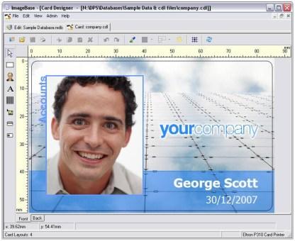 ImageBase Lite ID Card Design Software - Screenshot 2